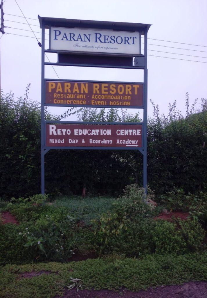 SIgnage of Paran resort
